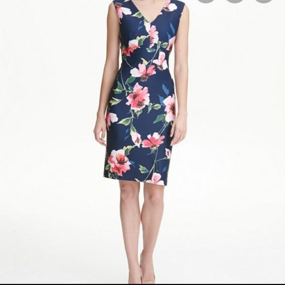 Tommy Hilfiger blue floral dress BNWT